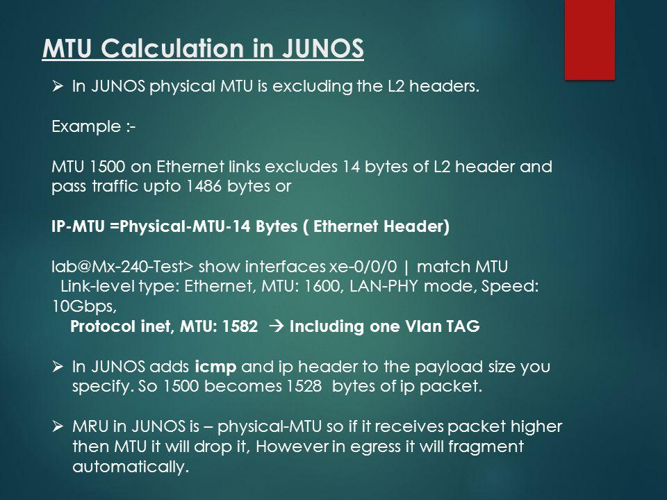 MTU Calculation in JUNOS