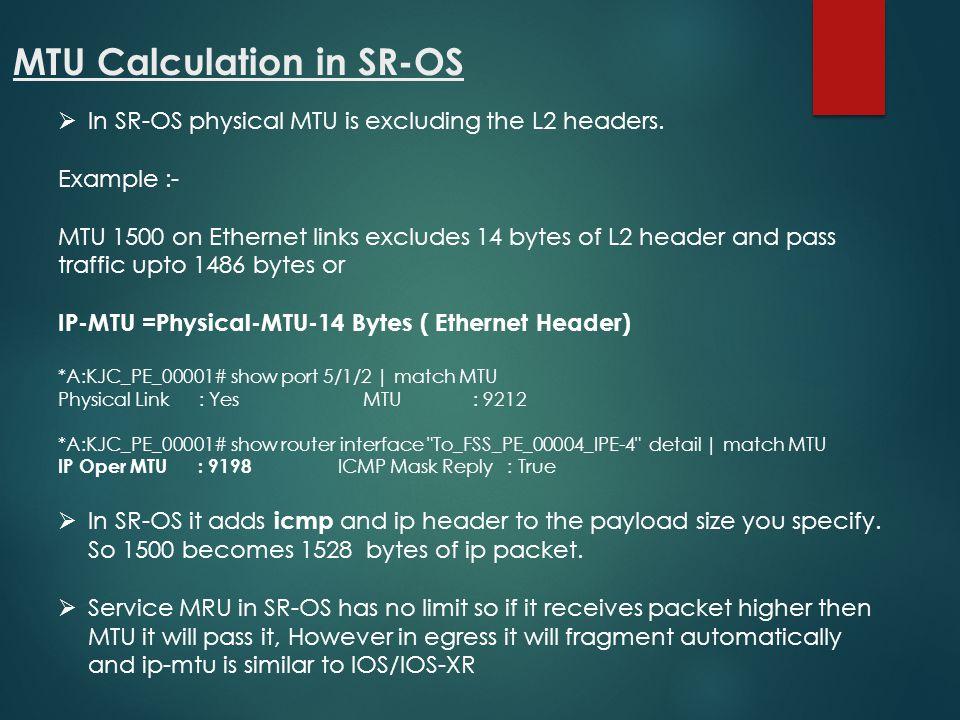 MTU Calculation in SR-OS