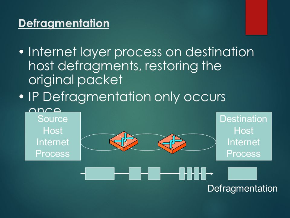IP Defragmentation only occurs once