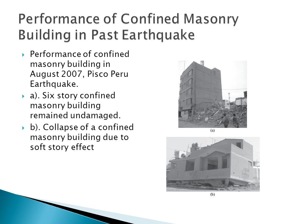 Performance of Confined Masonry Building in Past Earthquake