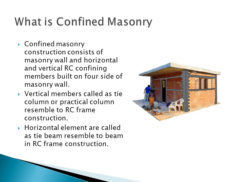 What is Confined Masonry