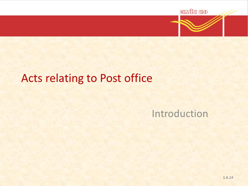 Acts relating to Post office