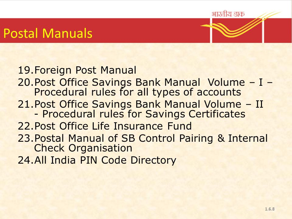 Postal rules ppt video online download - Internet banking post office ...