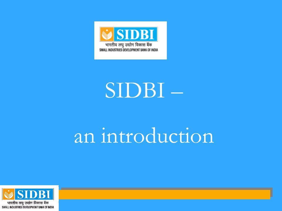 SIDBI – an introduction