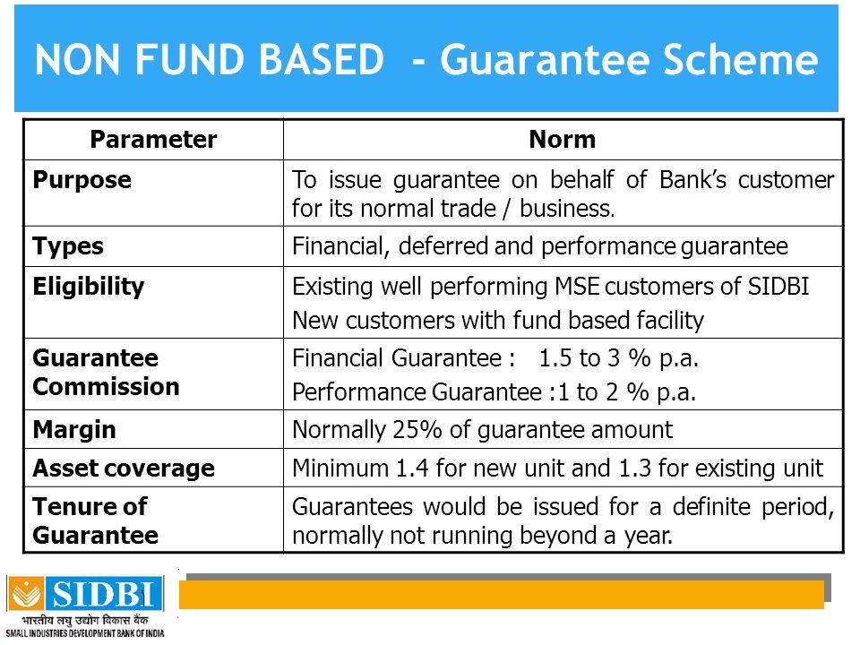 NON FUND BASED - Guarantee Scheme