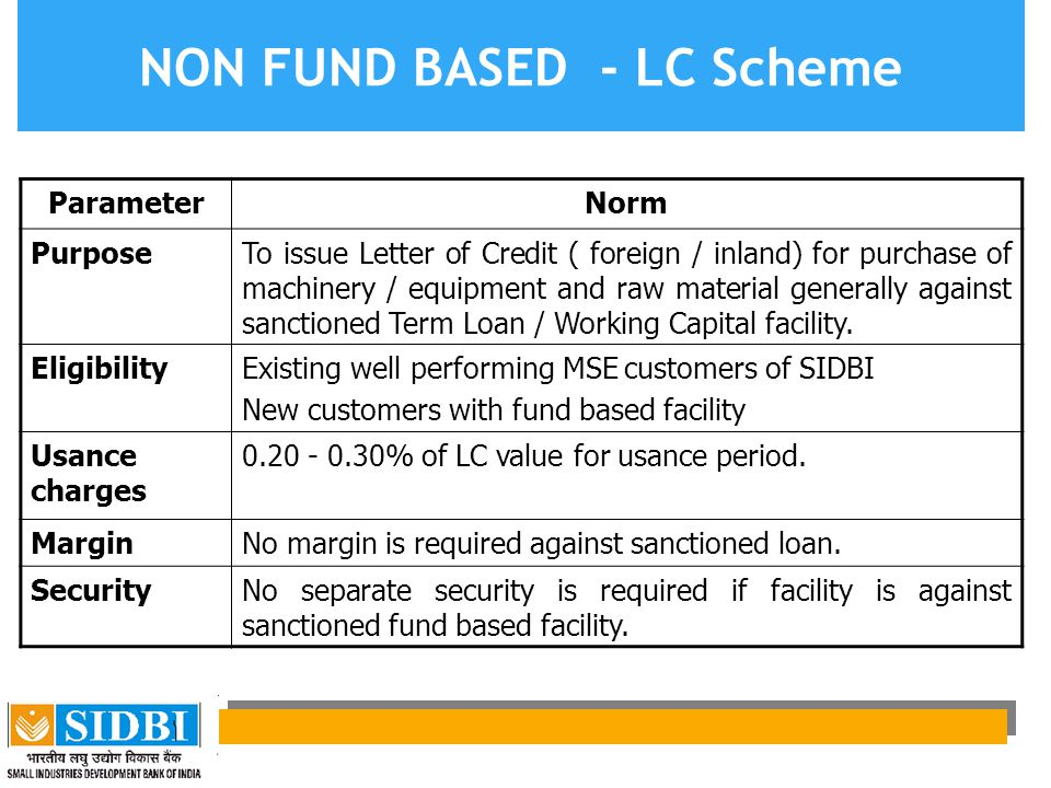 NON FUND BASED - LC Scheme