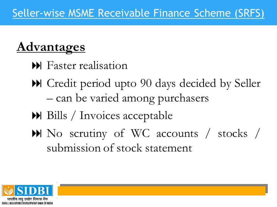 Seller-wise MSME Receivable Finance Scheme (SRFS)