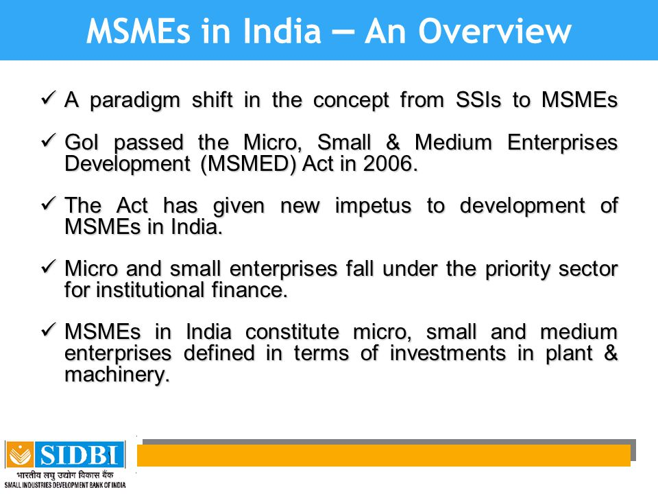 MSMEs in India – An Overview