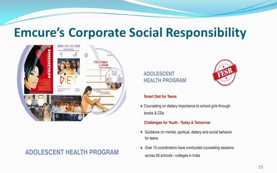Emcure's Corporate Social Responsibility