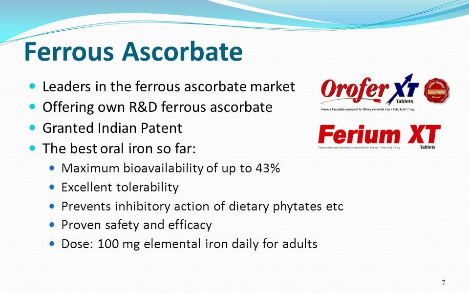 Ferrous Ascorbate Leaders in the ferrous ascorbate market