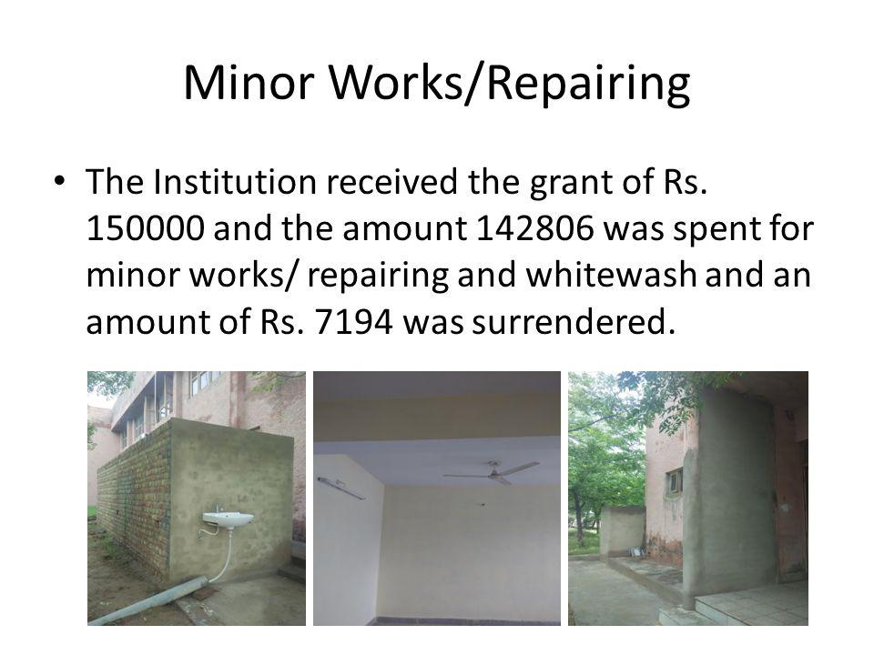 Minor Works/Repairing