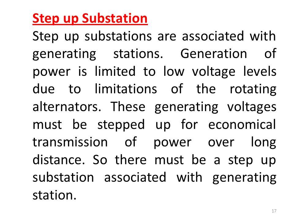 Step up Substation