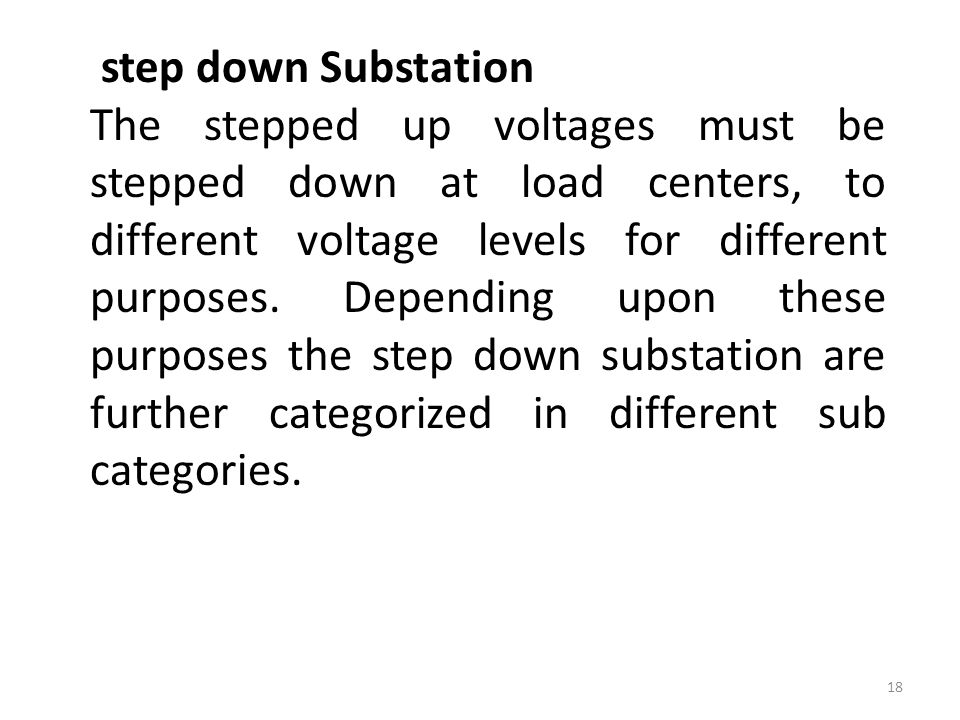 step down Substation