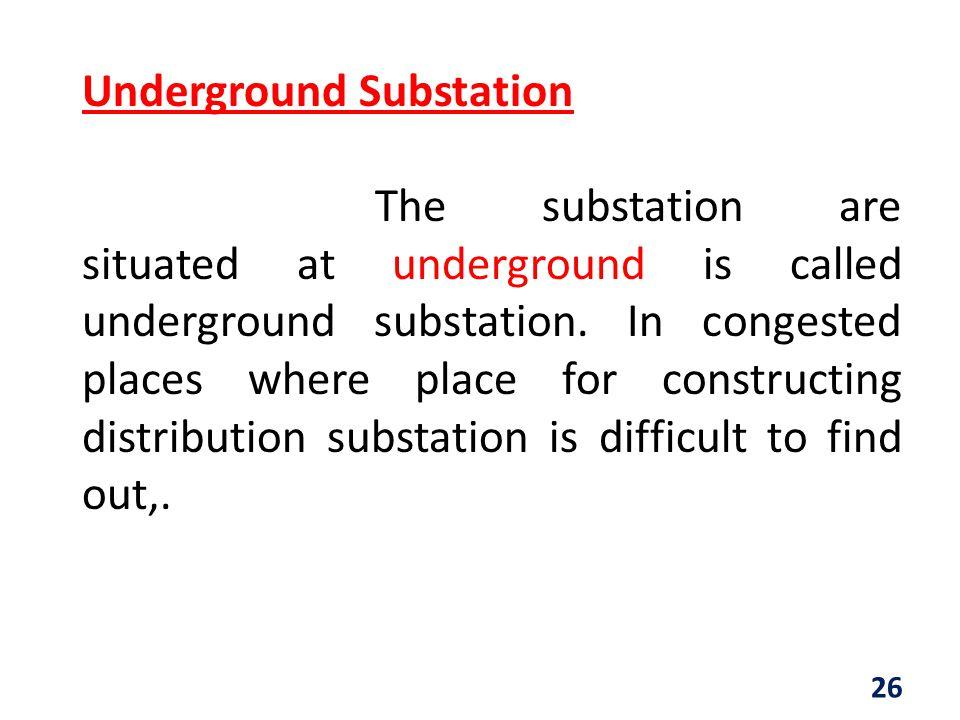 Underground Substation