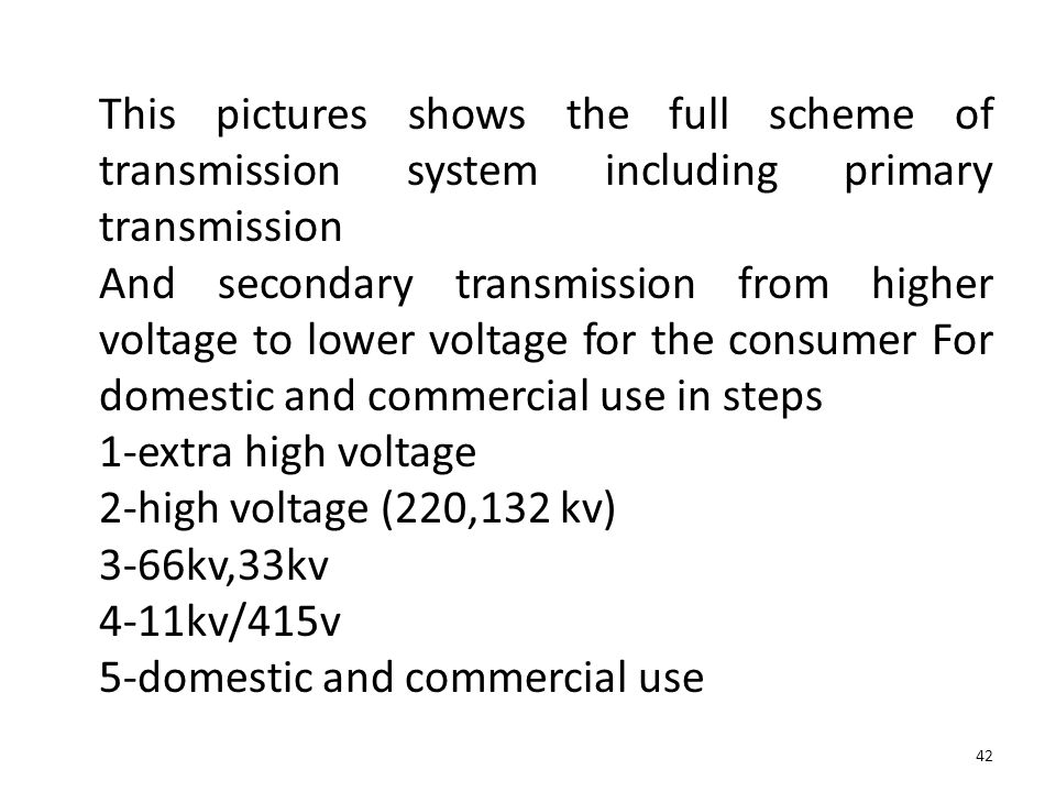 This pictures shows the full scheme of transmission system including primary transmission