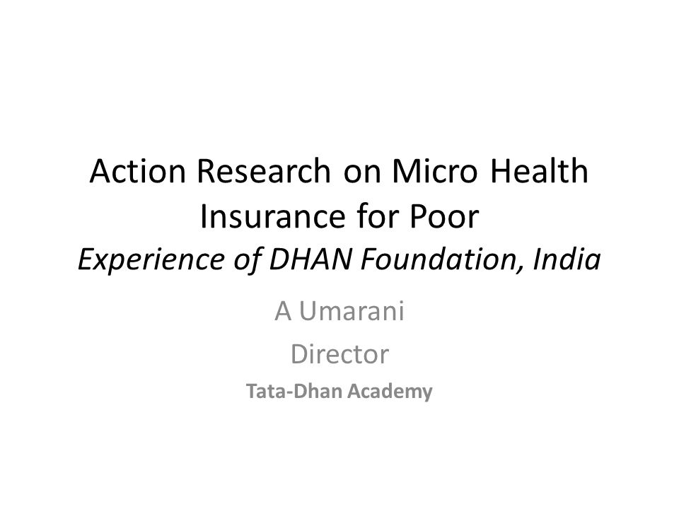 A Umarani Director Tata-Dhan Academy