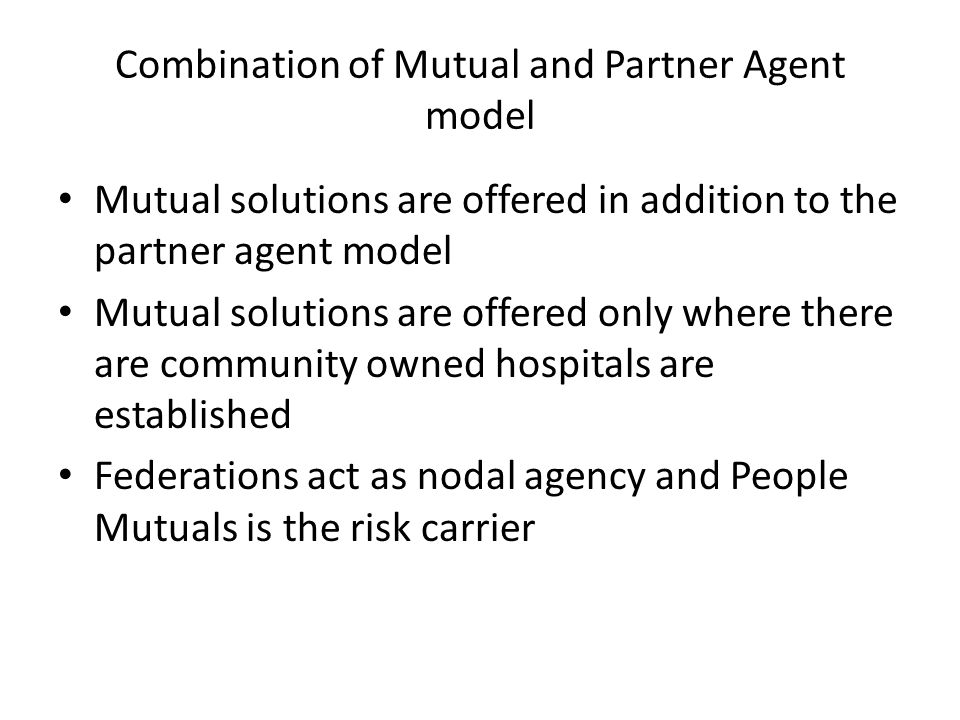 Combination of Mutual and Partner Agent model