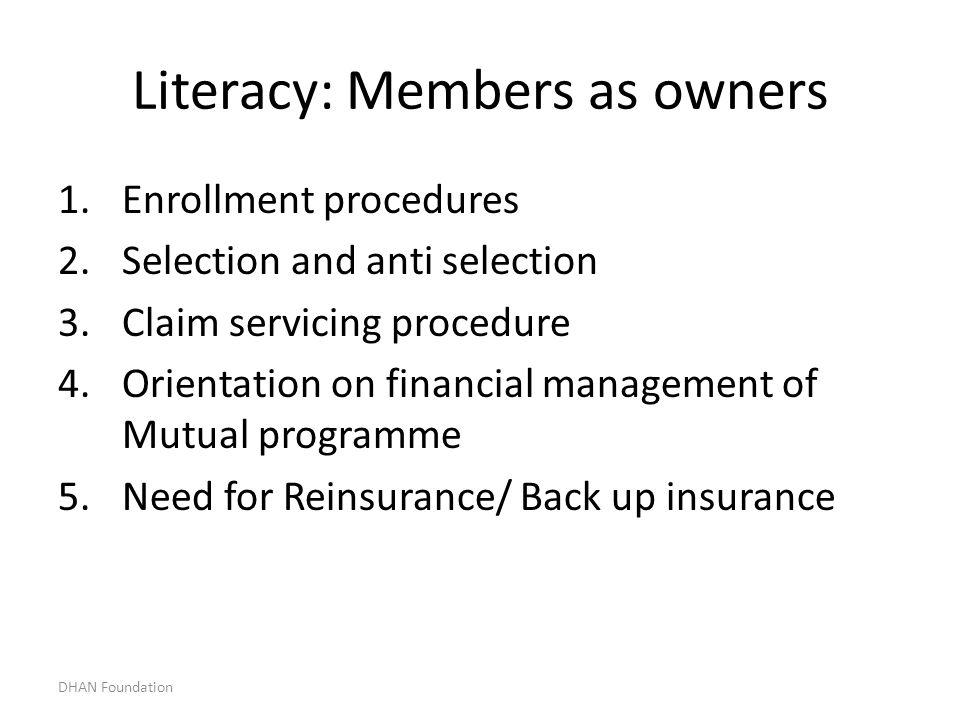 Literacy: Members as owners