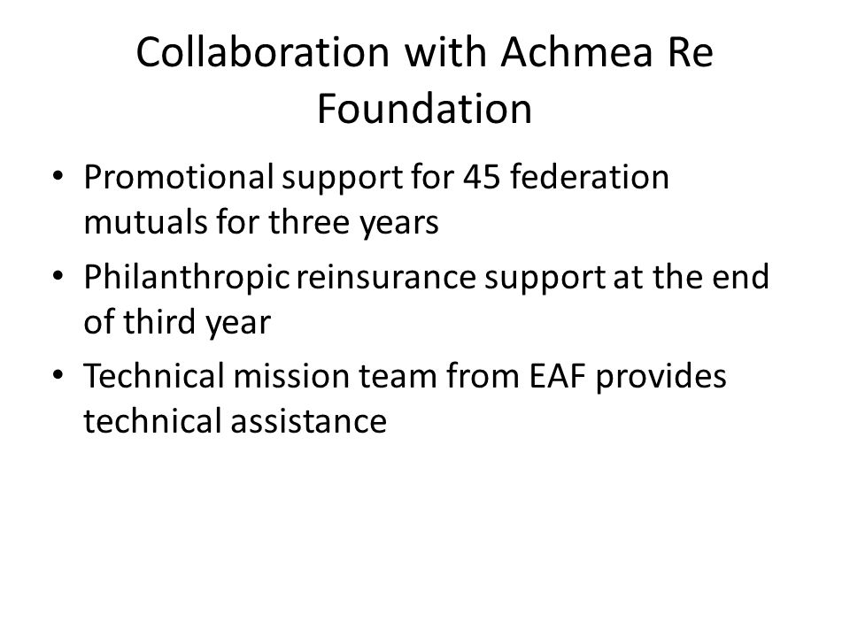 Collaboration with Achmea Re Foundation