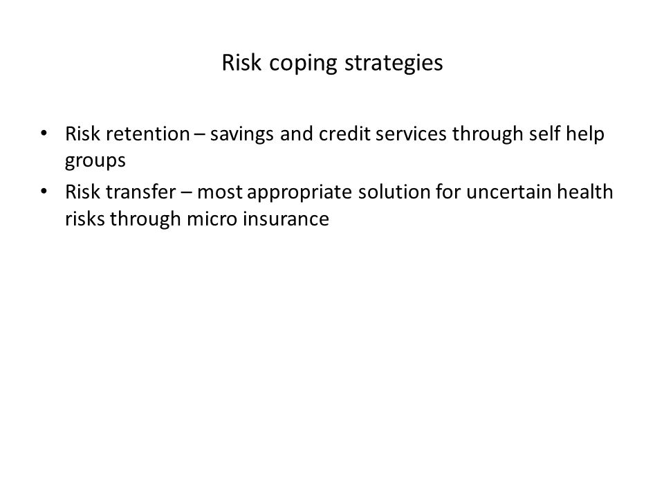 Risk coping strategies