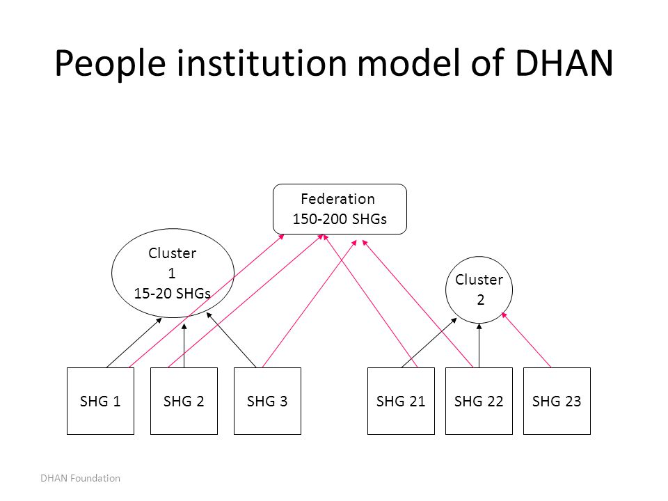 People institution model of DHAN
