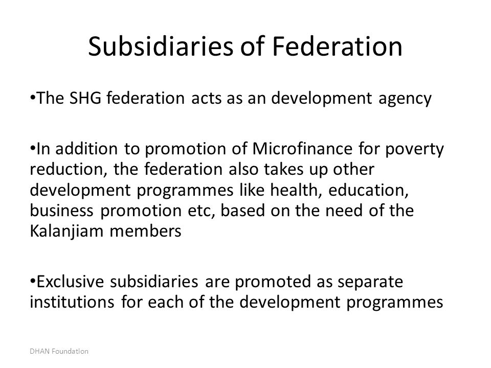 Subsidiaries of Federation