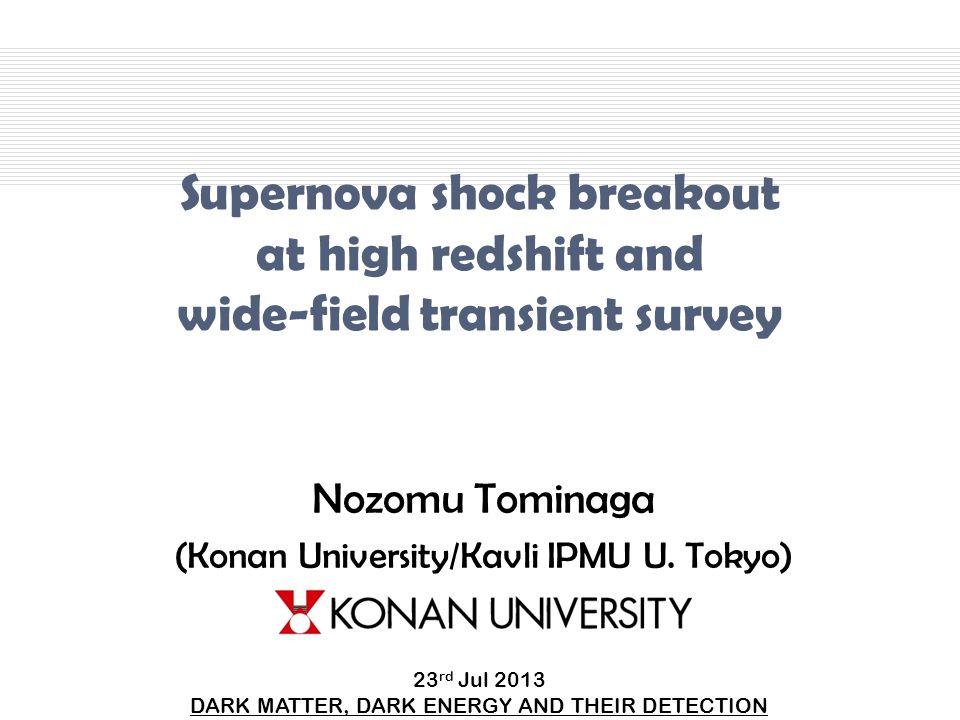 Nozomu Tominaga (Konan University/Kavli IPMU U. Tokyo)