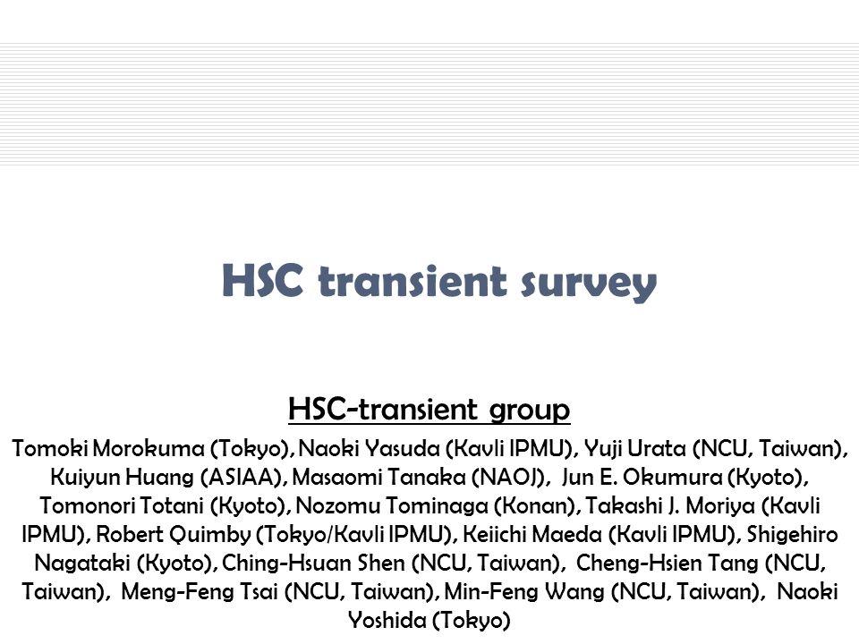 HSC transient survey HSC-transient group