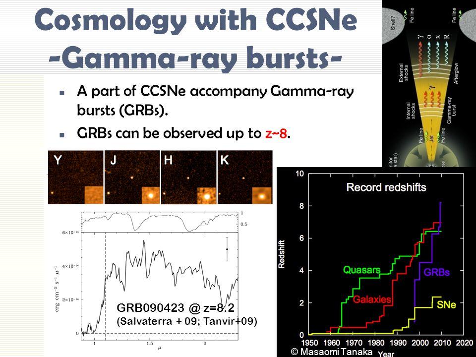Cosmology with CCSNe -Gamma-ray bursts-