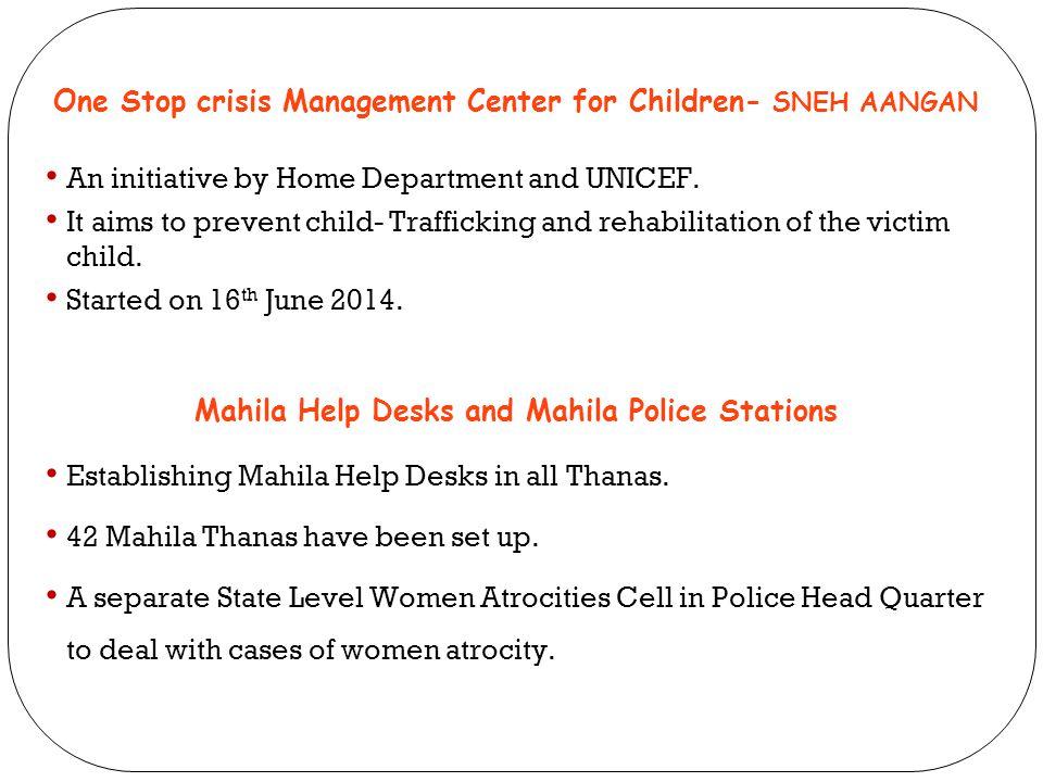 One Stop crisis Management Center for Children- SNEH AANGAN