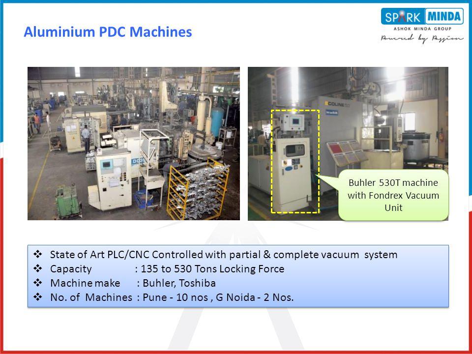 Buhler 530T machine with Fondrex Vacuum Unit