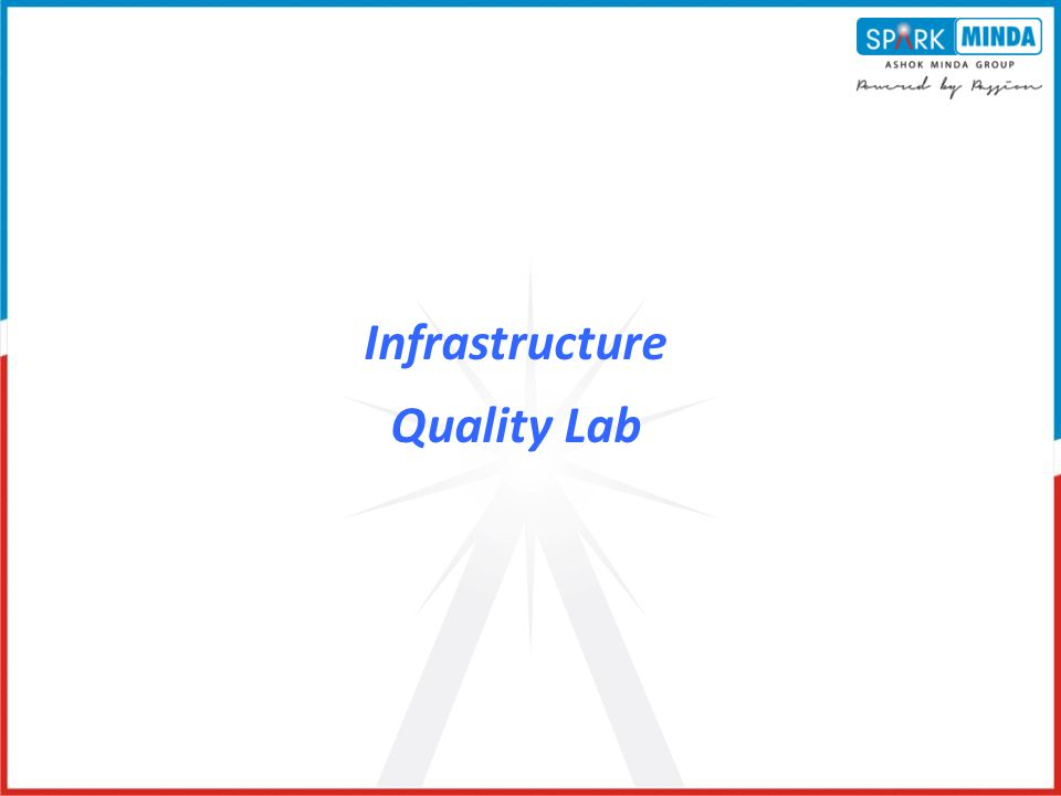 Infrastructure Quality Lab
