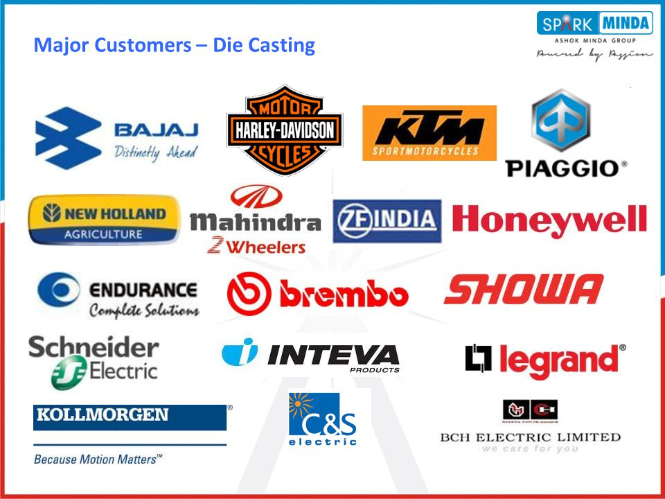 Major Customers – Die Casting