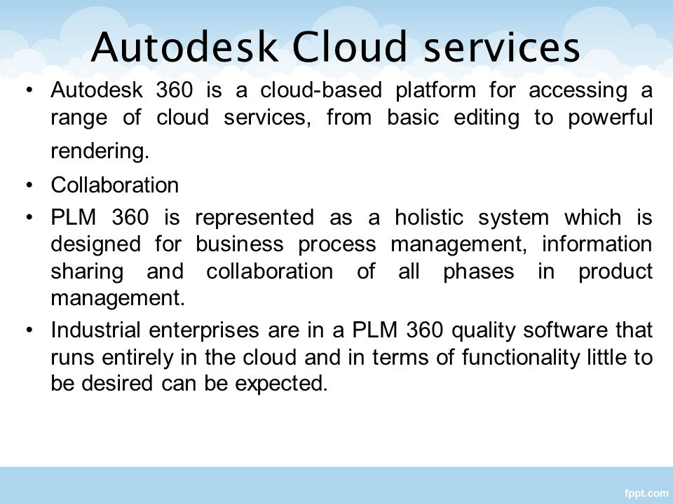 Autodesk Cloud services