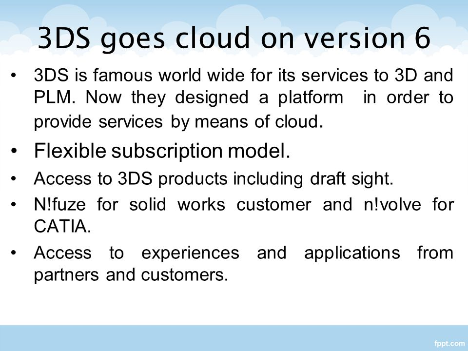 3DS goes cloud on version 6