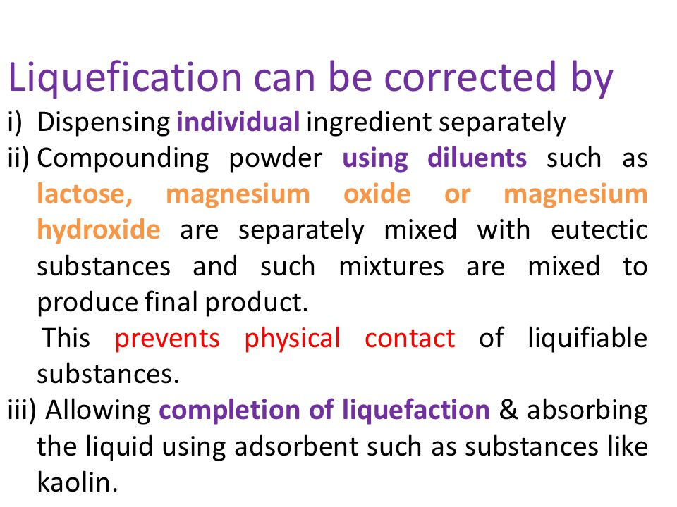 Liquefication can be corrected by