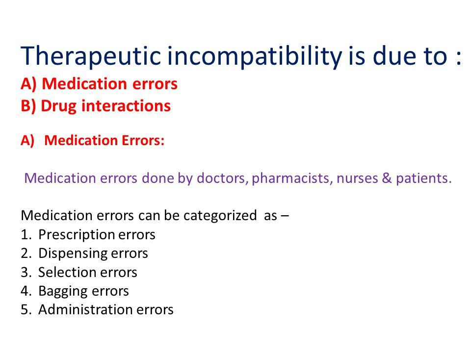 Therapeutic incompatibility is due to :