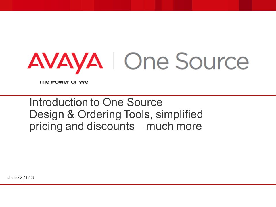 Introduction to One Source Design & Ordering Tools, simplified pricing and discounts – much more