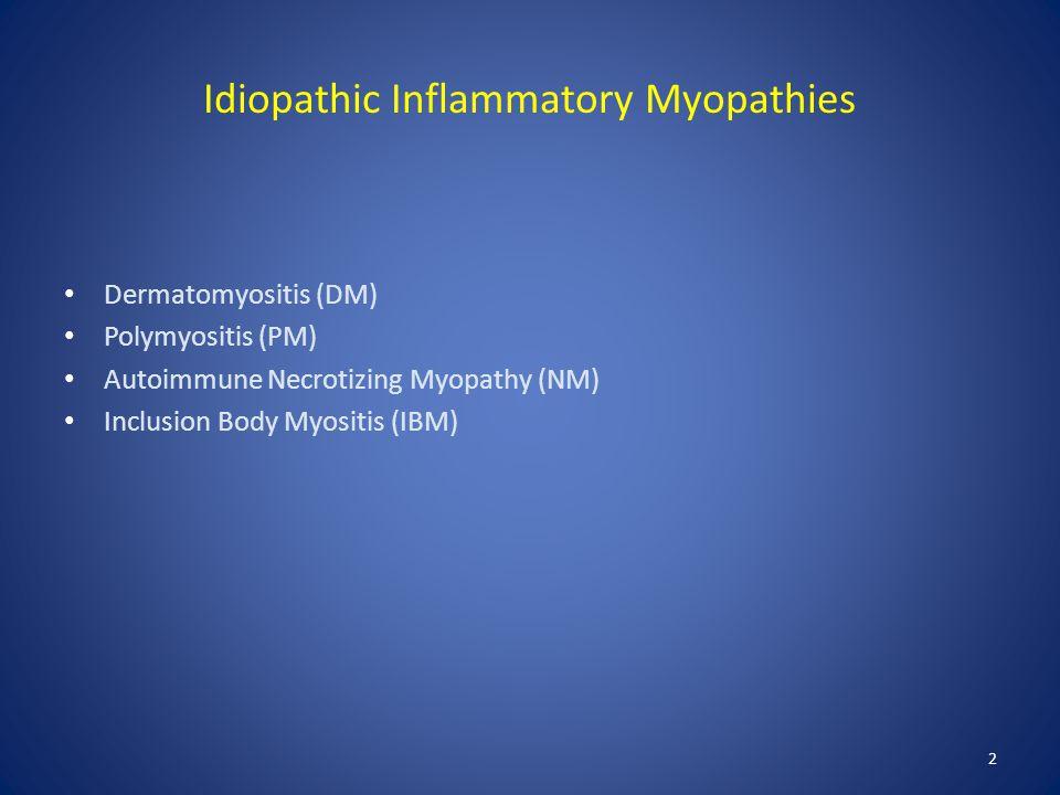 Idiopathic Inflammatory Myopathies