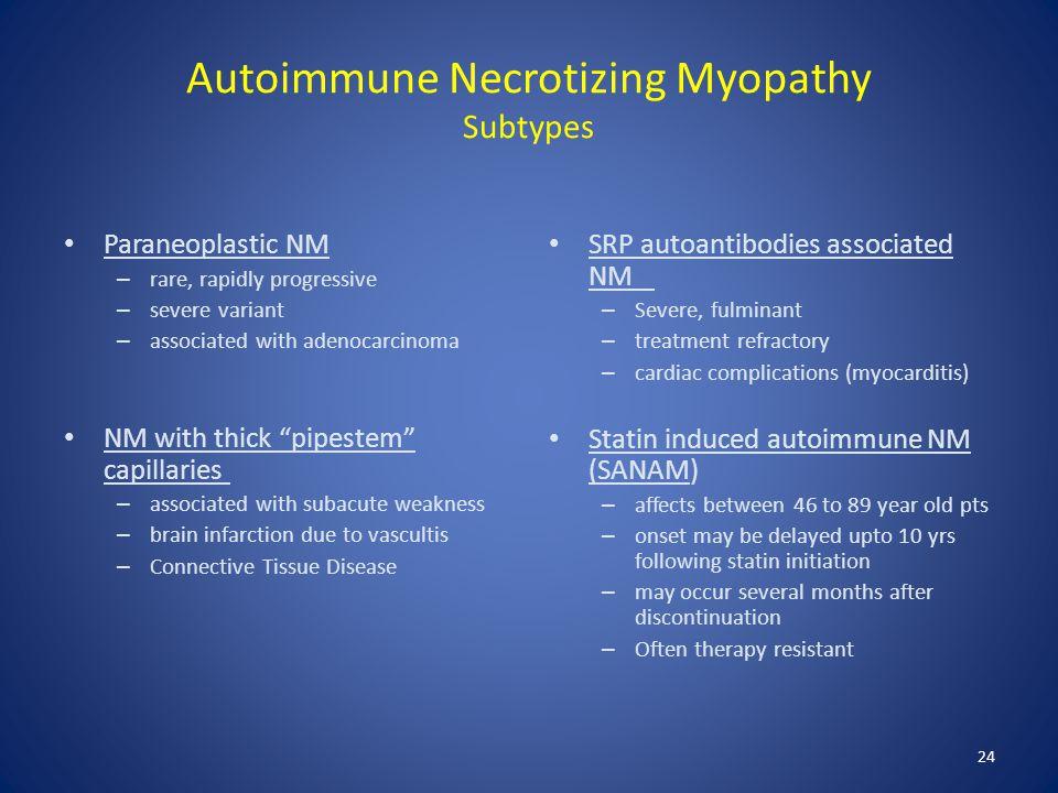 Autoimmune Necrotizing Myopathy Subtypes