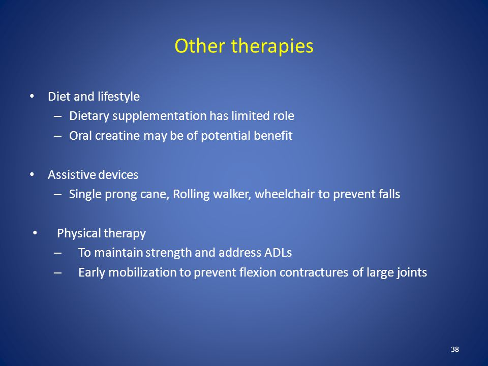 Other therapies Diet and lifestyle