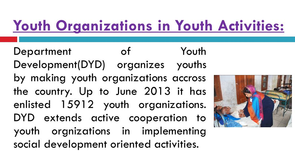 Youth Organizations in Youth Activities: