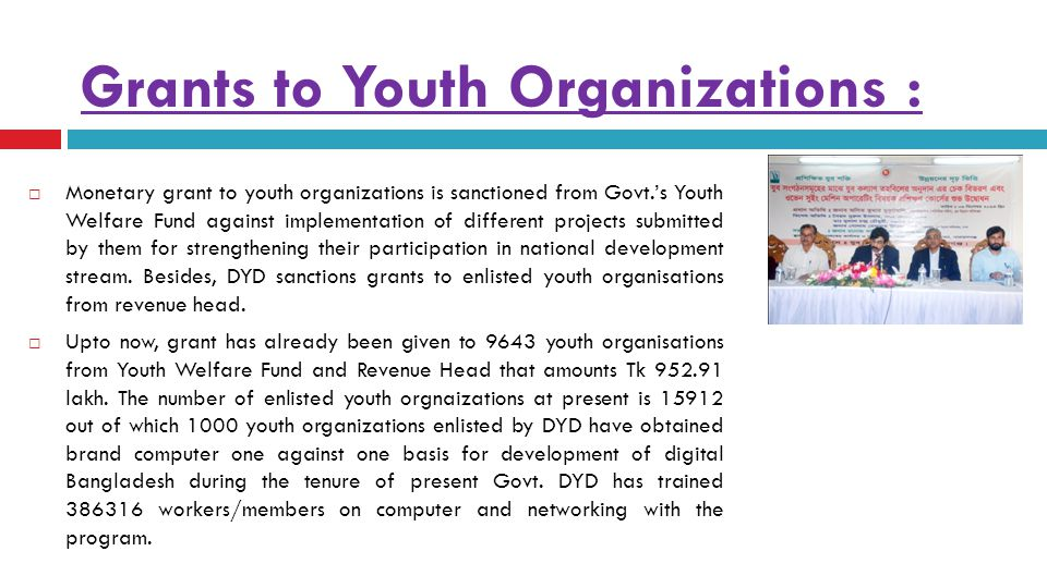 Grants to Youth Organizations :