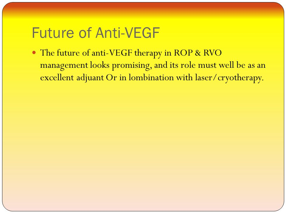 Future of Anti-VEGF