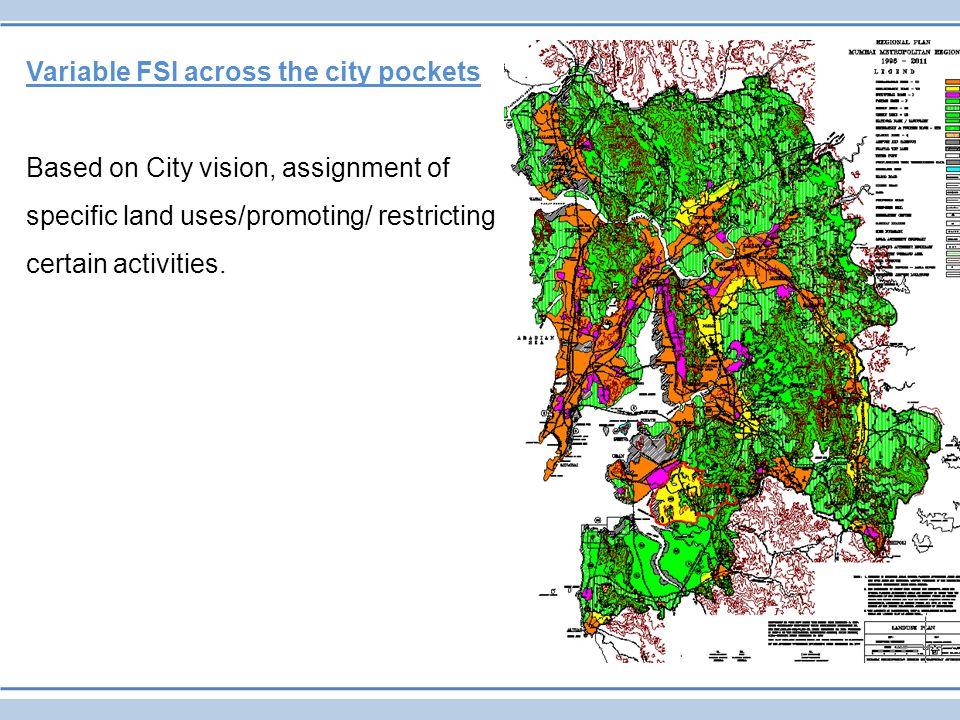 Variable FSI across the city pockets
