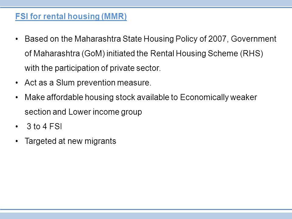 FSI for rental housing (MMR)