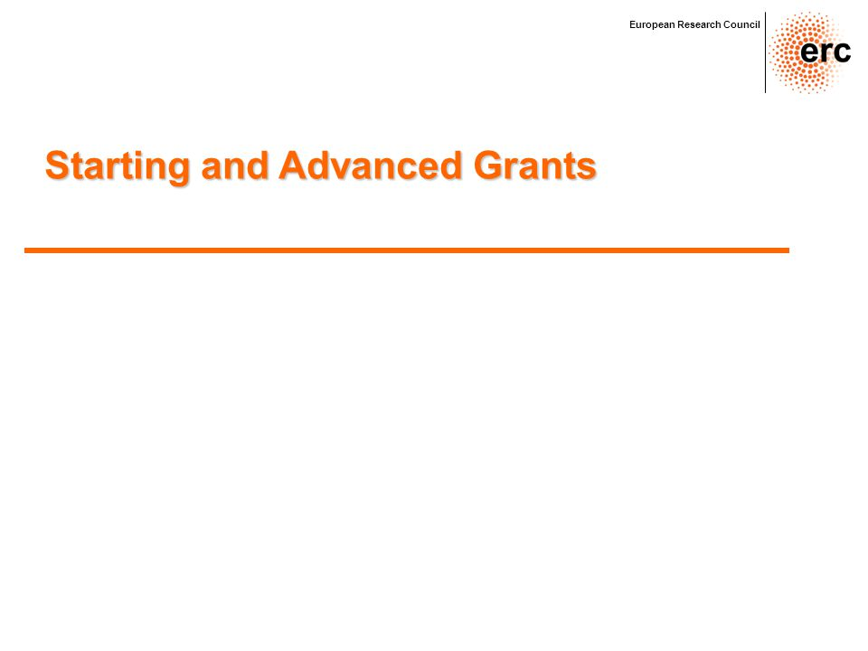 Starting and Advanced Grants