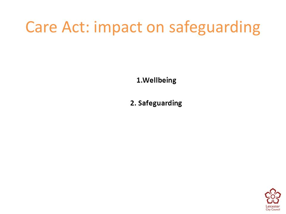 Care Act: impact on safeguarding
