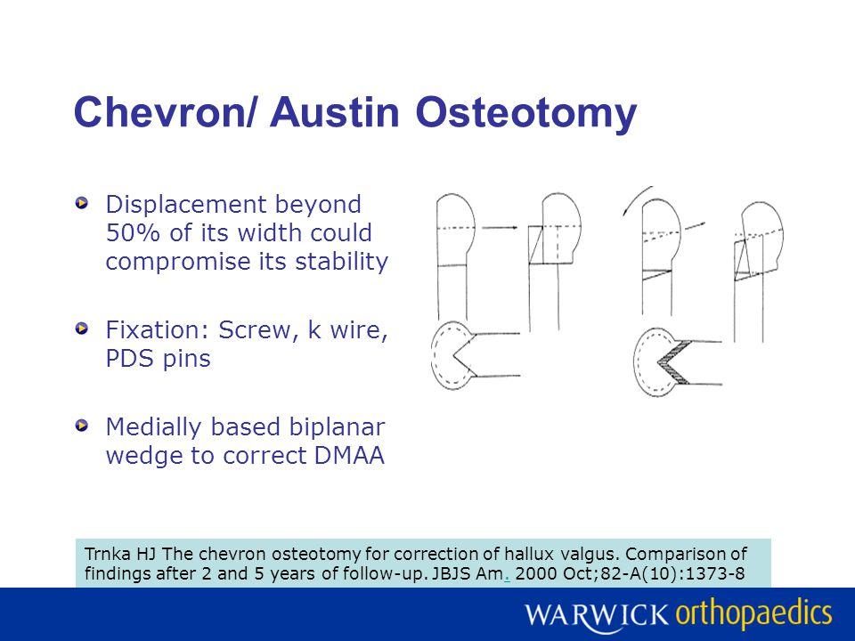 Chevron/ Austin Osteotomy