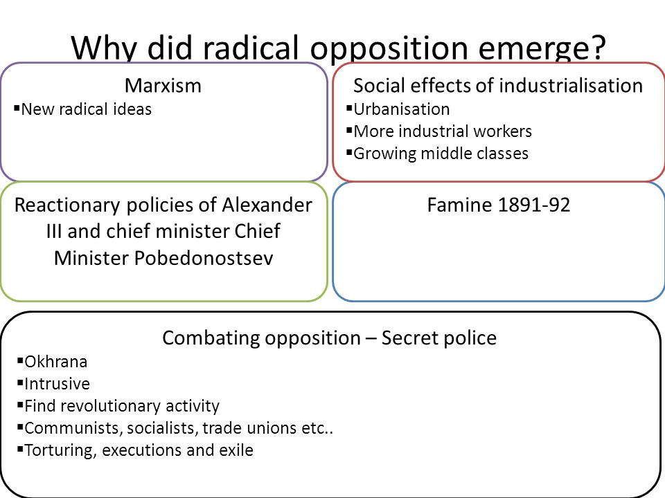 Why did radical opposition emerge